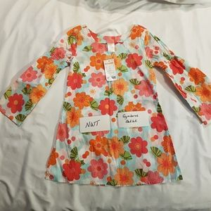 Gymboree outlet girls top size 6 floral tunic